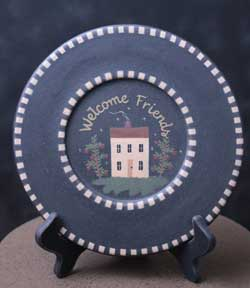 Welcome Friends House Plate
