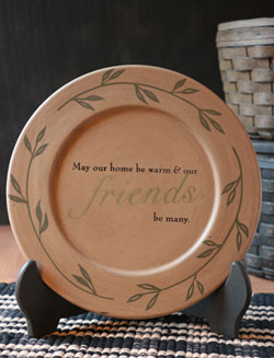May Our Home Be Warm Plate