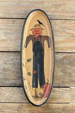 Scarecrow Oval Tray