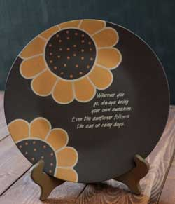 The Hearthside Collection Bring Your Own Sunshine Plate