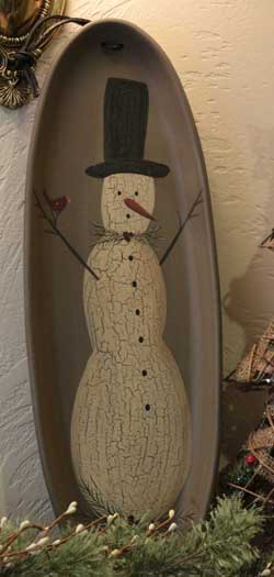 Snowman Hanging Oval Tray
