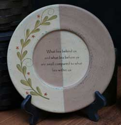 Star Garland Inspirational Plate