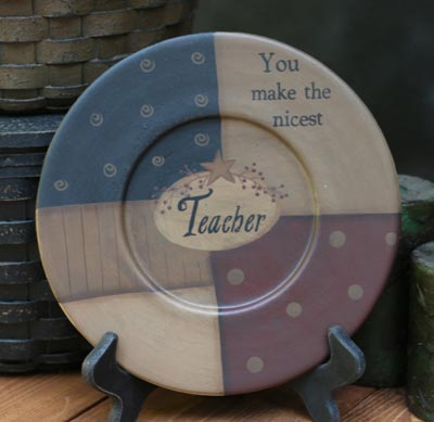 You Make The Nicest Teacher Plate