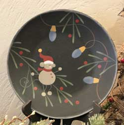Festive Mouse Plate with Light Bulbs