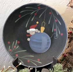 Festive Mouse Plate with Ornament