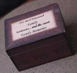 Family Heirlooms Memory Box