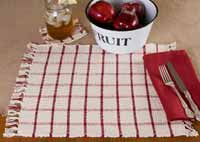 Clayton Red Rib Weave Coasters (Set of 4)