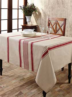 Charlotte Rouge Cotton & Linen Tablecloth (37 x 40 inch)