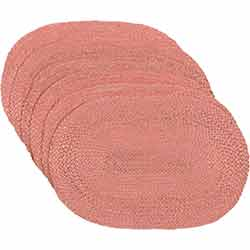Coral Jute Placemats (Set of 6)