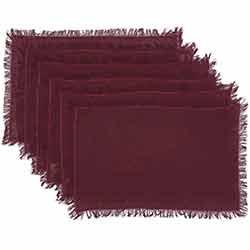 Tobacco Cloth Merlot Placemats (Set of 6)