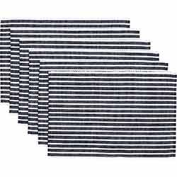 Harmony Navy Ribbed Placemats (Set of 6)