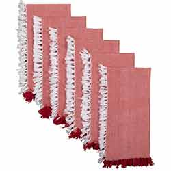 Harmony Red Napkins (Set of 6)