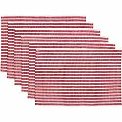 Harmony Red Ribbed Placemats (Set of 6)