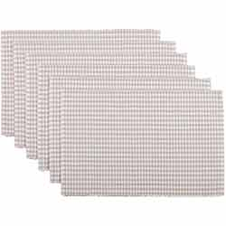 Tara Grey Ribbed Placemats (Set of 6)