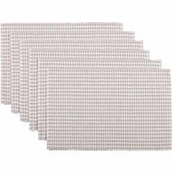 Tara Grey Ribbed Placemats (Set of 6)