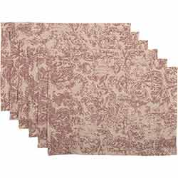Rebecca Crimson Placemats (Set of 6)