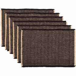 Hazel Black Placemats (Set of 6)