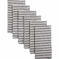 Classic Stripe Black Napkins (Set of 6)