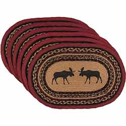 Cumberland Moose Braided Placemats (Set of 6)