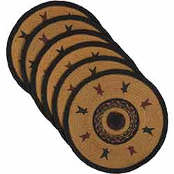Heritage Farms Star Braided Placemats (Set of 6) - Round