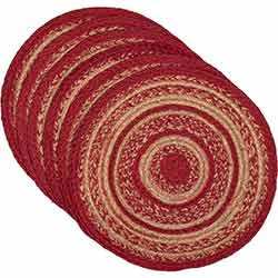 Cunningham Braided Placemats (Set of 6) - Round