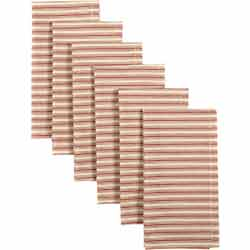 Kendra Stripe Red Napkins (Set of 6)