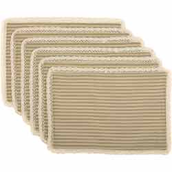 Kendra Stripe Green Placemats (Set of 6)