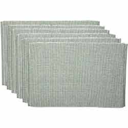 Ashton Green Ribbed Placemats (Set of 6)
