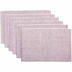 Ashton Burgundy Ribbed Placemats (Set of 6)