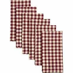 Katie Burgundy Napkins (Set of 6)