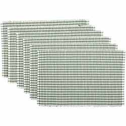 Tara Green Ribbed Placemats (Set of 6)