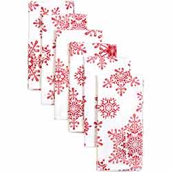 Snowflake Red Napkins (Set of 6)