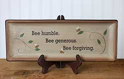 Bee Humble Primitive Tray