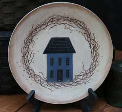 Saltbox House with Wreath Plate