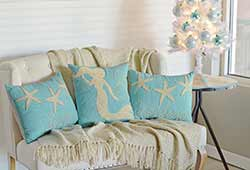 Nerine Seas & Greetings Pillows (Set of 3)
