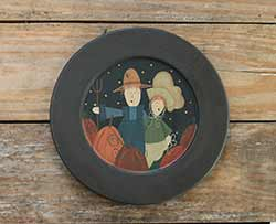 Pumpkin Harvest Couple Plate