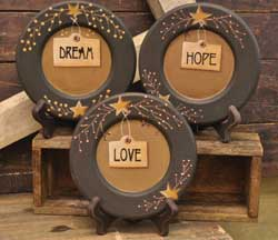 Love, Dream, Hope Plates (Set of 3)