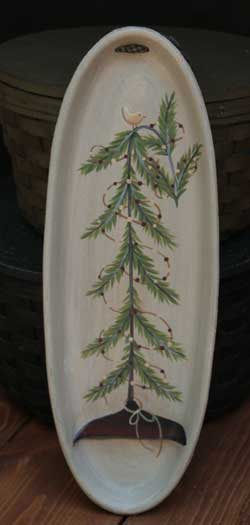 Feather Tree Oval Hanging Tray