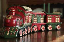 Large Ceramic Train Set