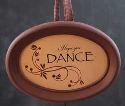 Hope You Dance Oval Frame