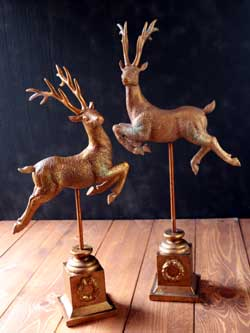 Deer on Base (Set of 2)