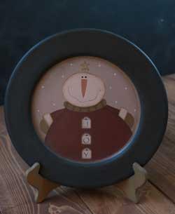 Joy Snowman Plate