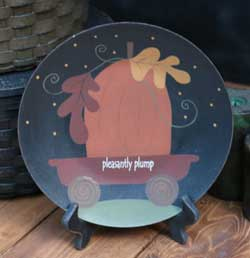 The Hearthside Collection Pleasantly Plump Pumpkin Plate