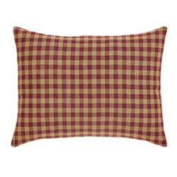 Burgundy Check Decorative Pillow (14 x 18 inch)