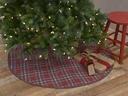 Anderson Plaid Christmas Tree Skirt - 55 inch