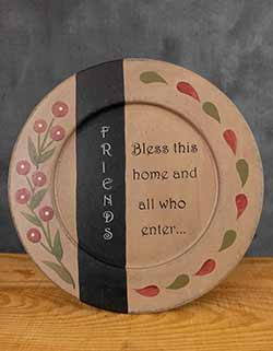 Bless This Home Primitive Plate