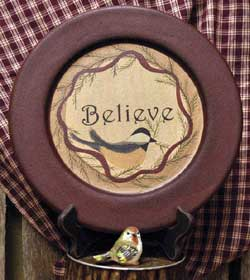 Believe Sparrow Plate