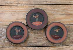 Tom Turkey Thankful Plates (Set of 3)