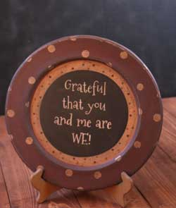 You and Me Plate