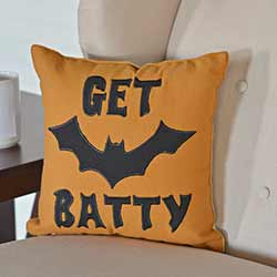 Get Batty Decorative Pillow